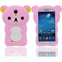 Funda Samsung Galaxy S4, Animales Linda Pequeño Oso Apariencia Suave Silicona Gel / Agarre Cómodo Ajuste Perfecto Carcasa Case para Samsung Galaxy S4 i9500