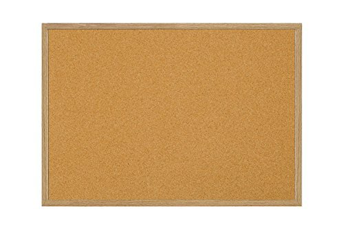 MasterVision Wood Frame Cork Bulletin Board, 24x18 Inch (MC040014231) by MasterVision (Board Cork Mastervision)