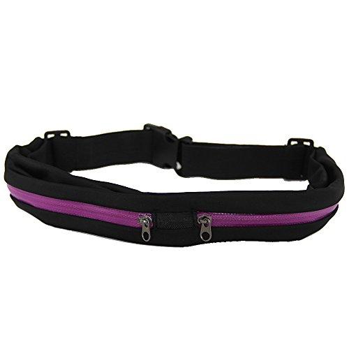 RayLineDo Fashion Sport-Taillengürtel mit tasche - Double Pocket-Purple