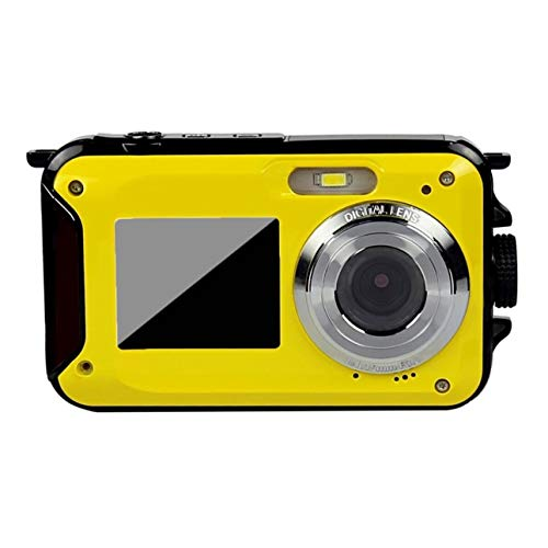 Ballylelly-Double Screen Underwater Camera HD Waterproof Photo Shooting Video Recording Sports Diving LED Flash Digital Video Camera of Underwater Digital Video Camera