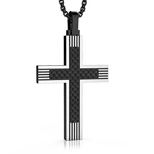 Paul Weston 881 • Edelstahl Halskette Herren • Anhänger Kette Männer • 100% Natürliche Materialien • 1 Jahr Garantie - Gestaltet mit ❤ in Zürich • Schweizer Qualität