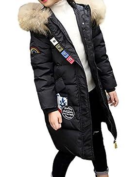 Niñas niños abrigo de invierno acolchado de algodón chaqueta con capucha Parka niña cálido engrosamiento capucha...