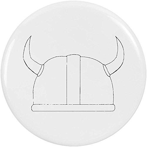 Azeeda 2 x 38mm 'Casco Vikingo' Insignia de Botones Pin (BB00025488)