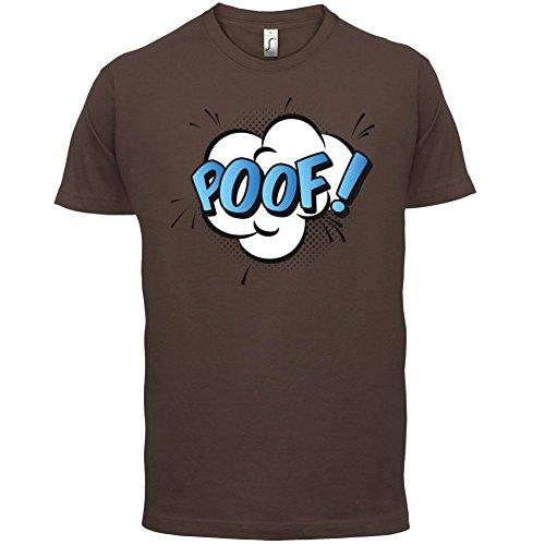 Superheld Poof - Herren T-Shirt - 13 Farben Schokobraun