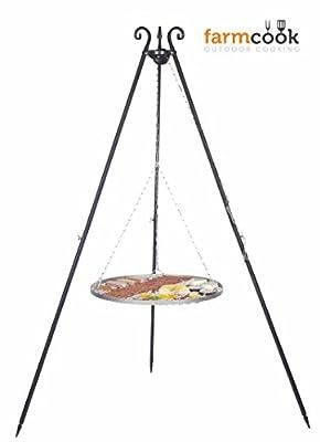 FARMCOOK Schwenkgrill Viking Dreibein mit Grillrost aus Edelstahl in 4 Größen