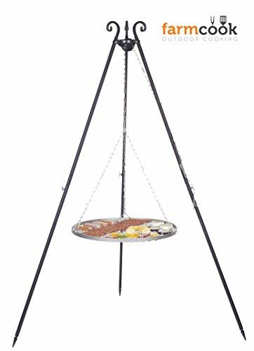 FARMCOOK Schwenkgrill VIKING Dreibein mit Grillrost aus Edelstahl in 4 Größen (Ø 50 cm)