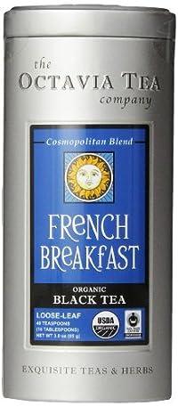Octavia Tea French Breakfast (Organic Black Tea) Loose Tea, 3-Ounce Tins (Pack of 2)