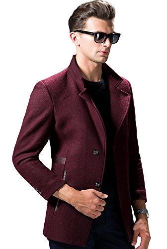 Insun Herren Mantel burgunderfarben