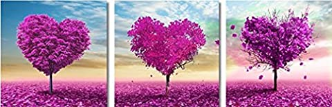 YEESAM Art nouveau 5d Diamant Peinture kit–Romantique Fleur Arbre Amour Arbre–DIY Cristaux Diamant De Strass Peinture Collez-le Peinture par numéro Kits point de croix à broder Combination