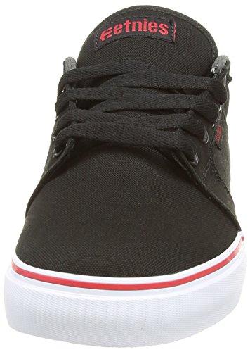 Etnies - Barge Ls, Scarpe Da Skateboard da uomo Nero (Black  (Black/Dark Grey/Red 565))