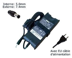 """AC Adaptateur secteur pourDell Inspiron i3542-5000BK i3542-6666BK i5447-6250SLV i5748-1143SLV i7347-10051SLVchargeur ordinateur portable, adaptateur, alimentation """"Laptop Power (TM)"""" de marque (avec garantie 12 mois et câble d'alimentation européen)"""