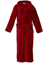 Lumaland Luxury Microfiber Bathrobe with Hood for Men and Women in  Different Sizes and Colors 1cd2345f1
