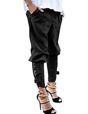 DAYLIN Pantalones de Harén Mujer Talla Grande Casual Baggy Hip Hop Trotar Pantalones