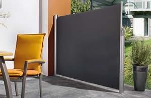 AVANTI TRENDSTORE - Pannello salvavista-frangivento avvolgibile nero ca. 300 x 180 cm