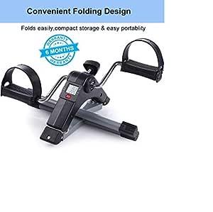 Ozoy Fitness Cycle - Foot Pedal Exerciser - Foldable Portable Foot, Hand, Arm, Leg Exercise Pedaling Machine - Folding Mini Stationary Bike Pedaler, Fitness Rehab Gym Equipment for Seniors, Digital