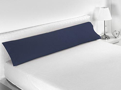 Sabanalia Combina - Funda de almohada disponible en varios tamaños, Cama 90 - 110 x 45, Marino
