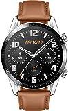 HUAWEI Watch GT 2 Smartwatch (46mm, OLED Touch-Display, Fitness Uhr mit Herzfrequenz-Messung, Musik Wiedergabe & Bluetooth Telefonie, 5ATM wasserdicht) pebble brown