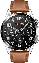 HUAWEI Watch GT 2 (46 mm) - mit Herzfrequenz-Messung, Musik Wiedergabe & Bluetooth Telefonie - 5ATM wasserdicht + 5EUR Amazon Gutschein, Pebble Brown