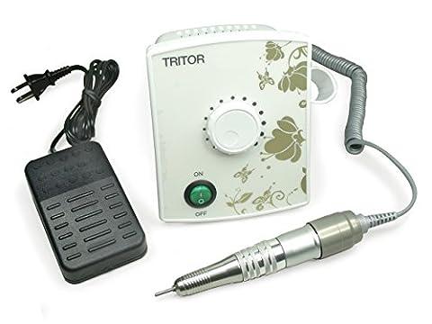 TRITOR ONE Nagelfräser weiß/weiß - Elektrische Nagel-Feile für Gel-Nägel - Fräser - Maniküre - Pediküre