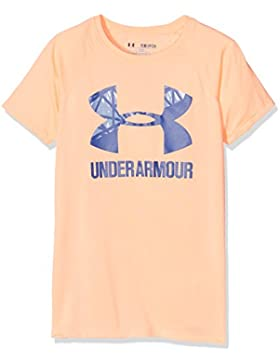 Under Armour Ua Solid Big Logo Ss T, Maglietta Bambina, Arancione, S