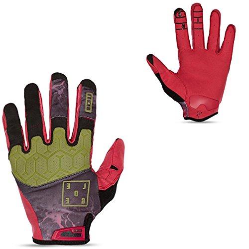 Ion Ledge MX DH FR Fahrrad Handschuhe lang rot/grün 2016: Größe: M