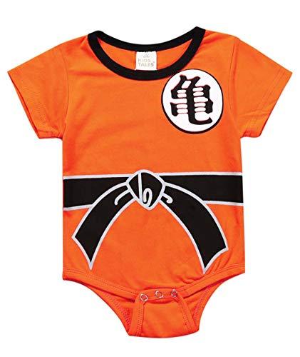 Askong Baby Jungen Halloween Cosplay Dragon Ball Z Son Goku Kurzarm Strampler Kleidung für 3 Monate - 3 Jahre Gr. 1-2 Jahre, 2 - Kleinkind Goku Kostüm
