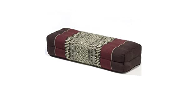 Brown//Burgundy YBCO19 My Zen Home Long Pillow