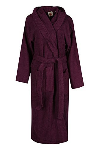 - 414mqCl5cQL - Womens Mens Unisex 100% Plus Size Luxurious Egyptian Cotton Bathrobe Terry Towelling Hooded Dressing Gown Housecoat UK SIZE S-XL