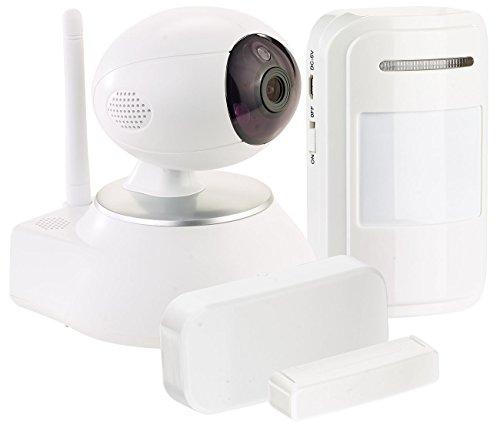 VisorTech Türsensor: HD-IP-Kamera mit Nachtsicht, 433-MHz-Funk, PIR- und Tür-Sensor (Kamera WLAN) Samsung Videoüberwachung