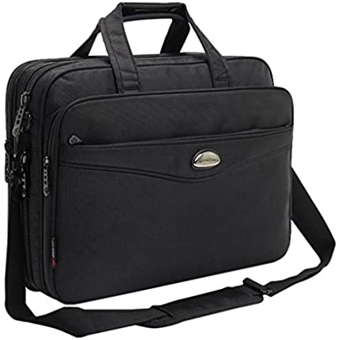Men's Classic Carry-all-Cartella espandibile Business Borsa a tracolla, borsa per Laptop, Computer 39,62 (15,6