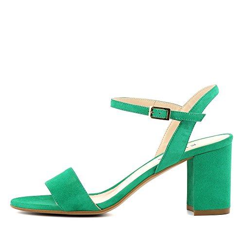 AMBRA Damen Sandalette Rauleder Grün