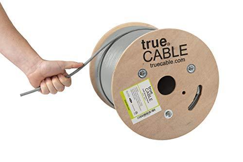 Cat6-riser (TrueCABLE Cat6-Riser (CMR), 152,4 m, 23AWG Solid Blank-Kupfer, 550 MHz, ETL-gelistet, Gesamtfolien-Abschirmung (FTP), Bulk Ethernet-Kabel grau grau 500ft)