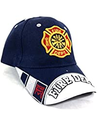 KY s U.S Fire Department - Casquette brodée embleme des Pompiers americain  - Bleu - Taille Unique 86985307c2c