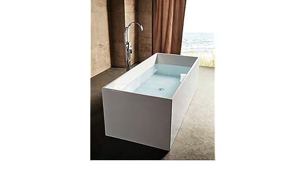 Vasca Da Bagno Freestanding Polaris : Vasca da bagno freestanding rettangolare cm polaris con