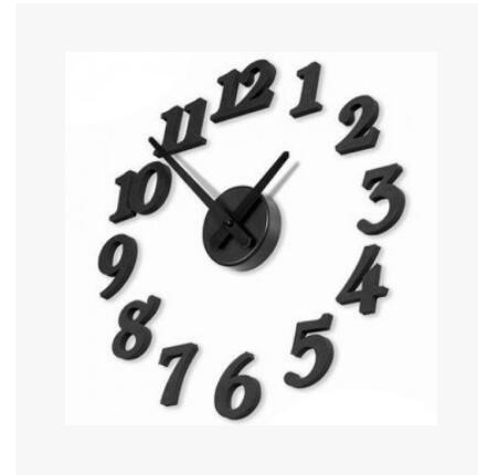 YUCH Horloge Numérique Diy Stickers Muraux Créatifs