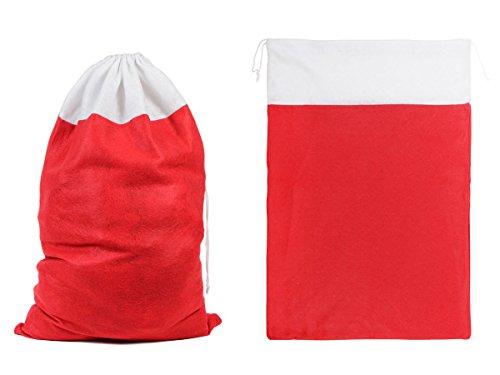 (Weihnachtsbeutel Geschenksack 50x70 cm (wb-05) Stoff Nikolaussack Weihnachtssack Geschenketasche von Alsino)
