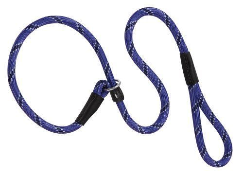 Weaver Leder Retrieverleine aus Seil, 1/2x 4-feet, Violett (4 Ft-leder Hundeleine)