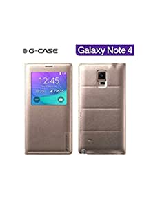 G-CASE Folio Back Cover Gold pour Galaxy Note 4