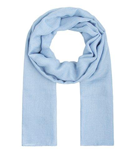 Majea dünnes Tuch leicht uni einfarbig unifarben unisex klassisch Schal schmal weich Sommerschal Übergangsschal (hellblau)
