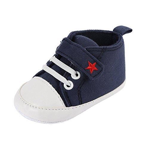 Converse-krippe-schuhe (ROPALIA Baby Basic Segeltuch Turnschuh Weichen Boden Prewalker Krippe Schuhe)