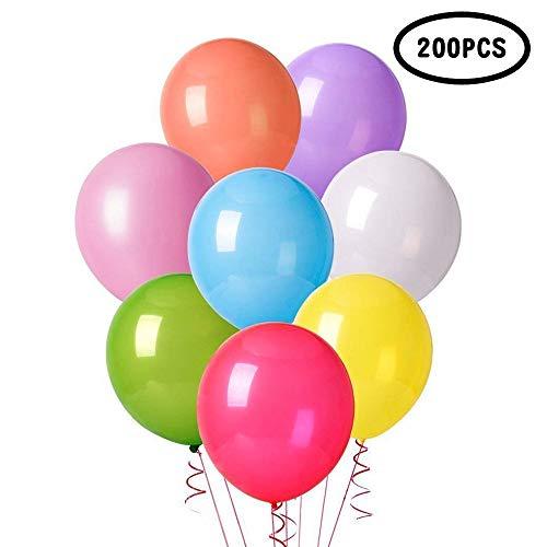 Yunfan 200 pezzi palloncini, palloncini modellabili, magici palloncini per feste, palloncini compleanno, decorazioni compleanno,regalini fine festa bambini, ecc--colore casuale