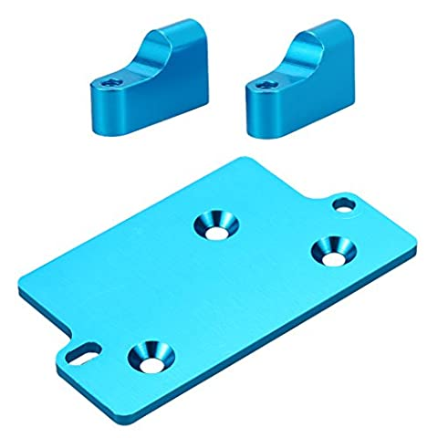 MagiDeal Blue Aluminium Alloy Servo Mount and Servo Plate Set for 1:10th AXIAL SCX10 RC Remote Controlled Car Crawler Accessory Parts