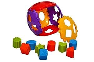Toyshine Shape Sorter Block Set 24 Pcs Non-Toxic - Multi Color