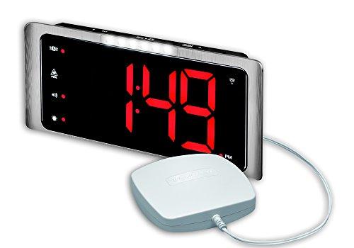 Audioline 907792 amplicomms TCL 410 Funkwecker mit lautem Signalton Silber