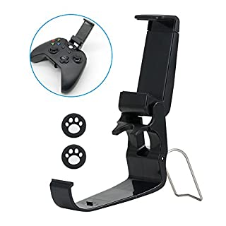 GLANICS Foldable XBox One Controller Phone Holder, Game Pad Joystick Phone Clip with Stand for iPhone Samsung Sony