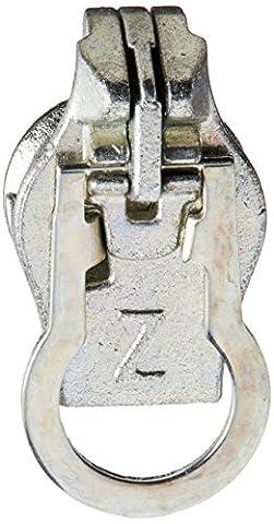 Zlide auf Zipper Pull Ersatz Metall 8, silber