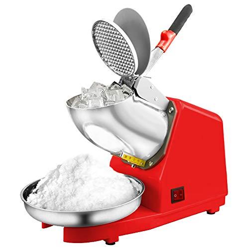Máquina de afeitar sobre hielo, máquina de afeitar, afeitadora de hielo de acero, 300w para el comercial en casa