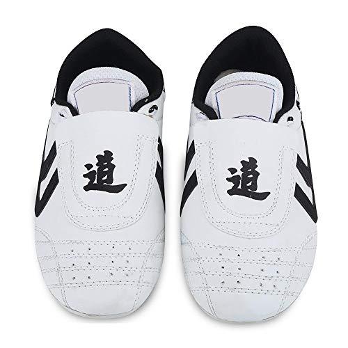 Huairdum Zapatos de Taekwondo, Deporte Boxeo Karate Kung fu Zapatos Taichi Zapatos Ligeros Zapatillas de Deporte de Artes Marciales Mujeres Hombres Adultos con Bolsa de Almacenamiento (#4)