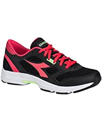 Diadora chaussure Sneaker Running Jogging Femme Shape 7 black/Bright Roses Chaussures Homme