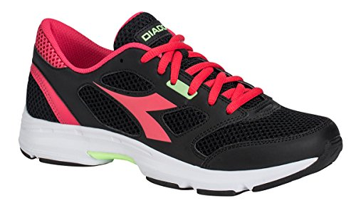 Diadora chaussure Sneaker Running Jogging Femme Shape 7black/Bright Roses Chaussures Homme noir